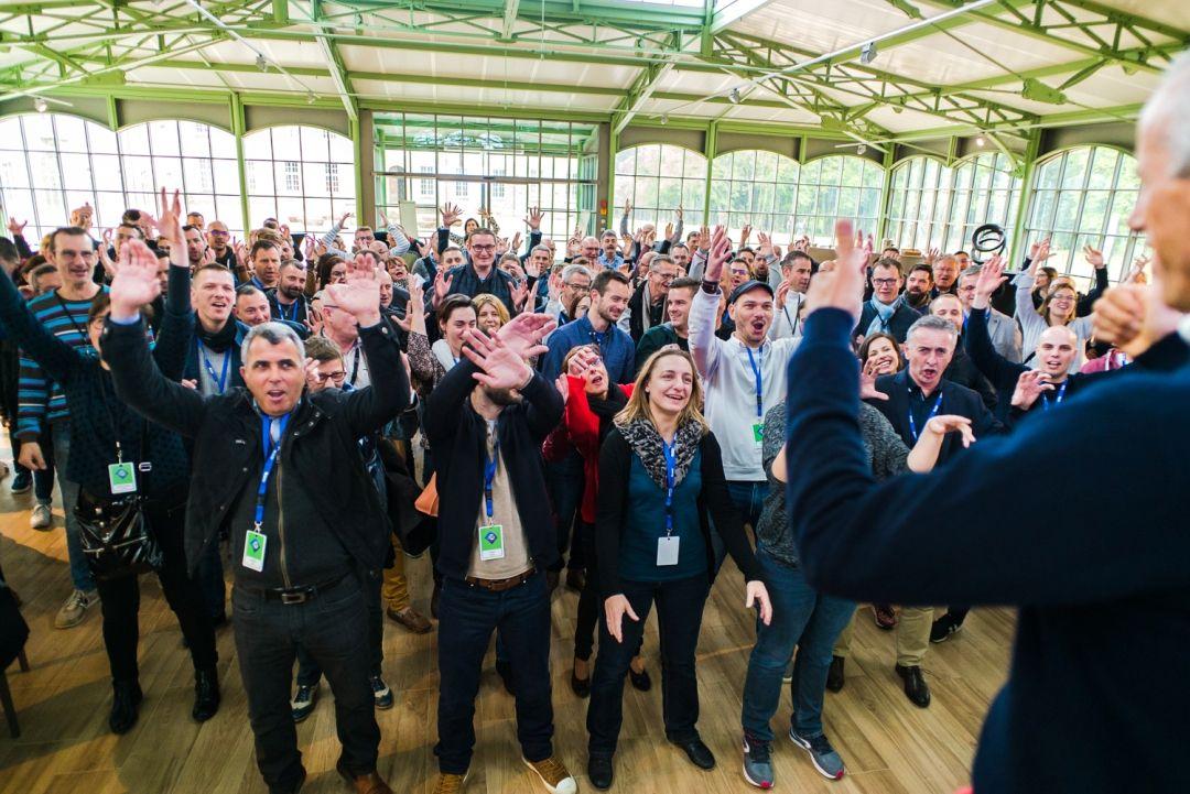 Collaborateurs Cabsoc Group réunis pour les 25 ans du groupe